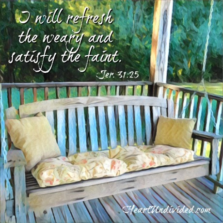 Refresh the weary