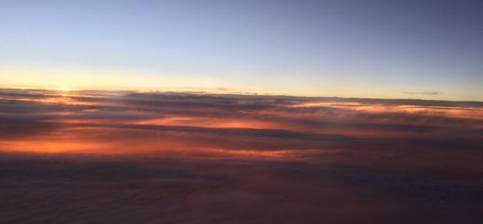 sunset in sky 1